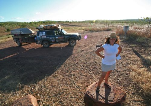 Jen taking in the view from the Gibb River Road, Kimberley, WA