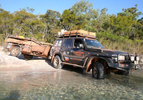 Tackling Nolans Brook, Cape York, QLD