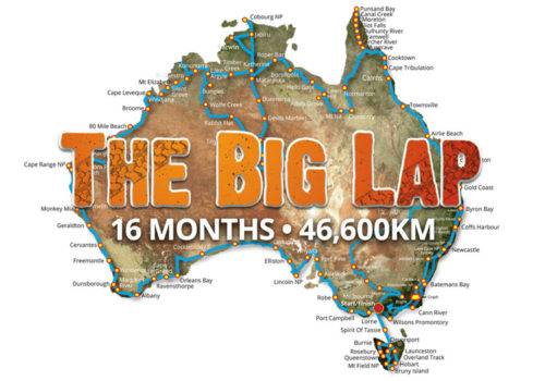 The Big Lap Route - 46,600km of adventure