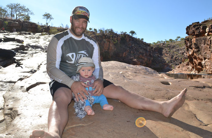 Carlo and Jordan at Bells Gorge in the Kimberley