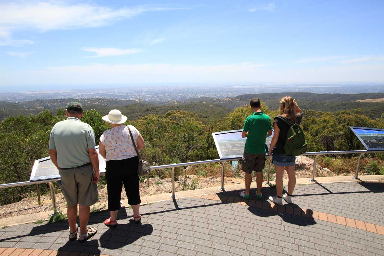 The view from Mt Lofty Summit