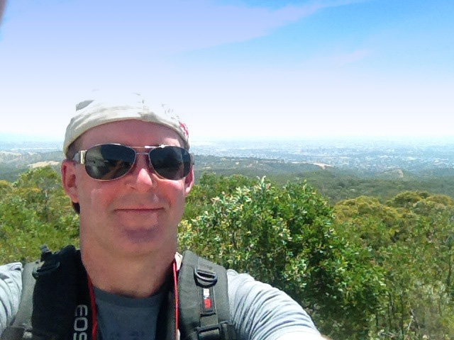 Self portrait at the Mt Lofty summit