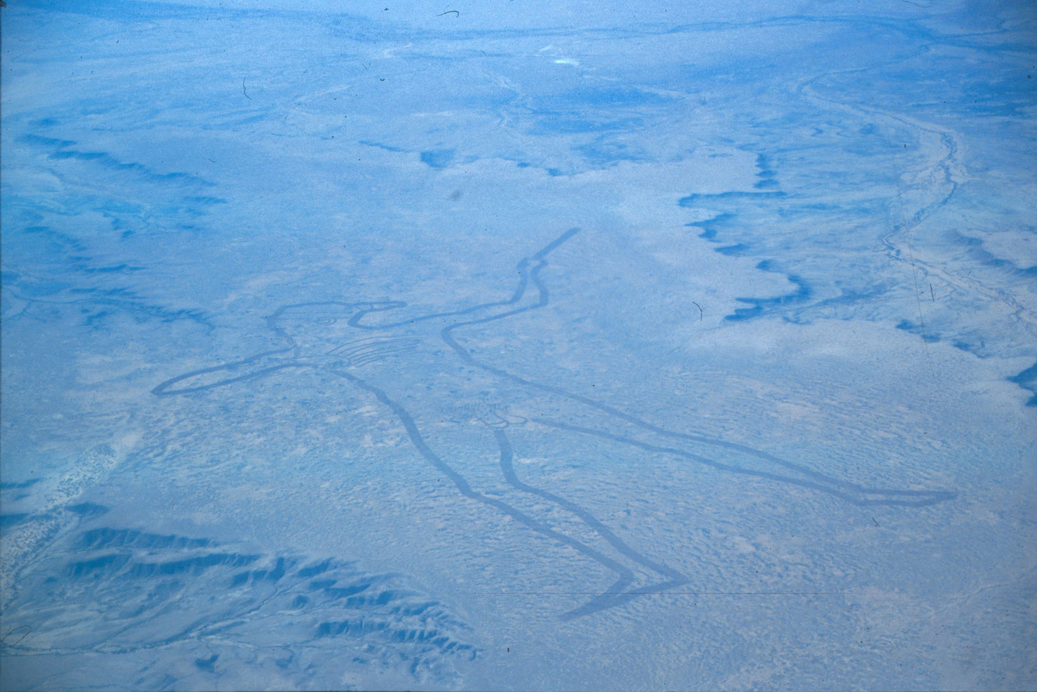 The original Marree Man from the air when it was created in 1998 - Image Credit Peter Campbell via Wikipedia