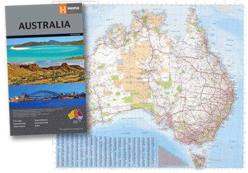 Large Map Of Australia.Hema Australia Large Map