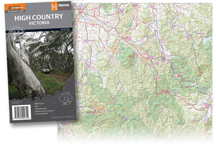 4wd Map Of Australia.Hema High Country Victoria Map