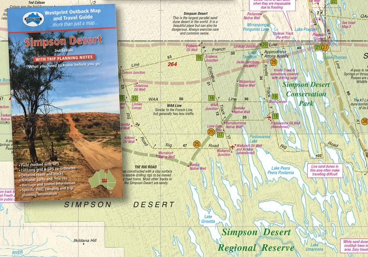 Australia Map Desert.Simpson Desert Trip Planning Map