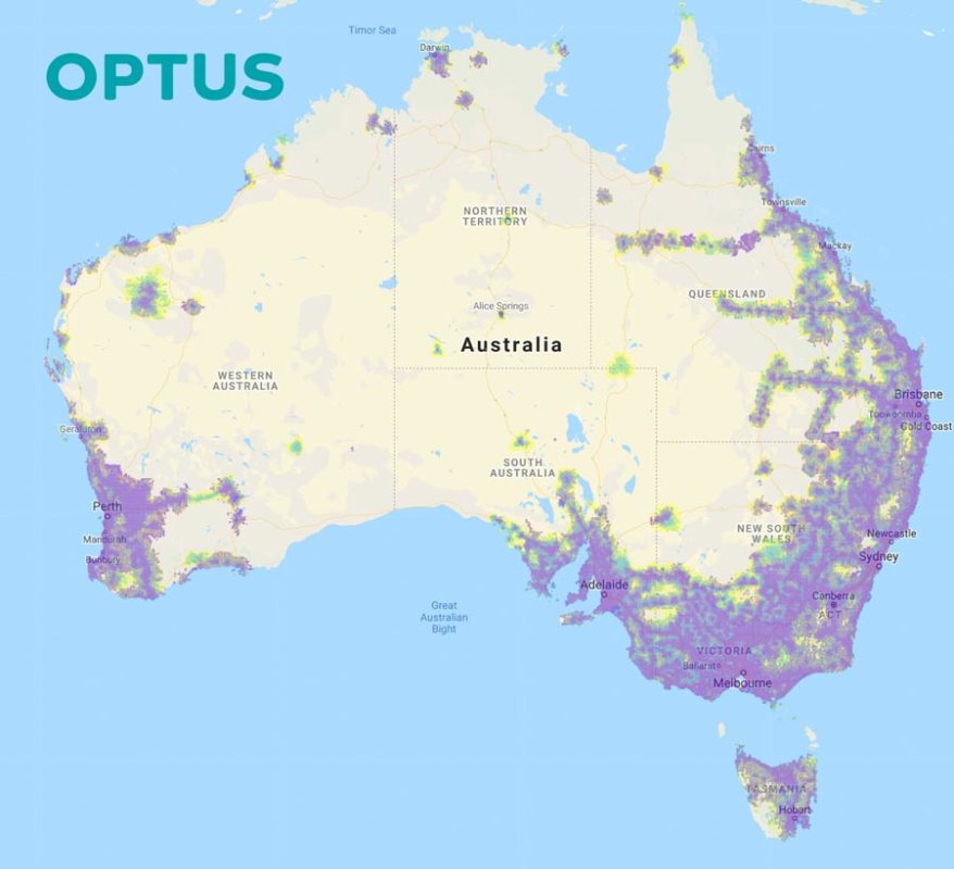 Optus mobile coverage map