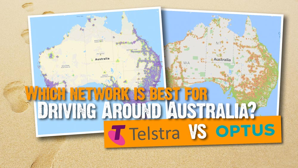 Australia Driving Map.Telstra Vs Optus Which Network Is Best For Driving Around Australia