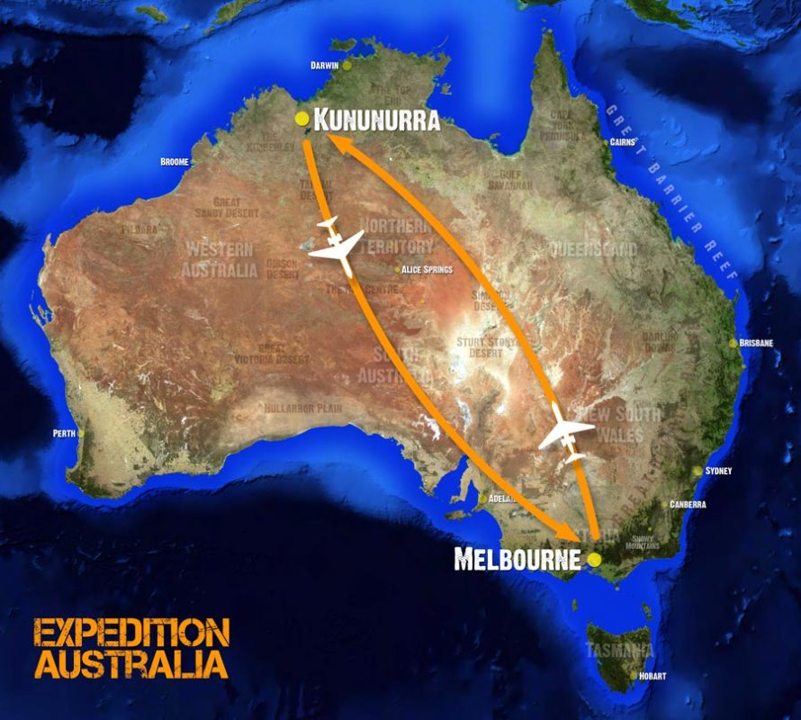 Direct flights from Melbourne to Kununurra