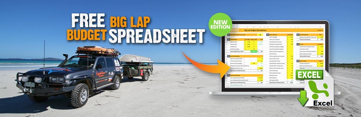 FREE Big Lap Budget Spreadsheet - Expedition Australia