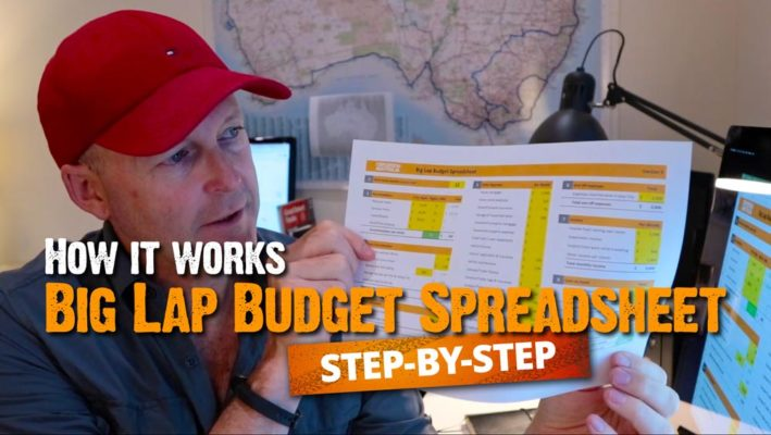 big lap budget spreadsheet step by step how it works video