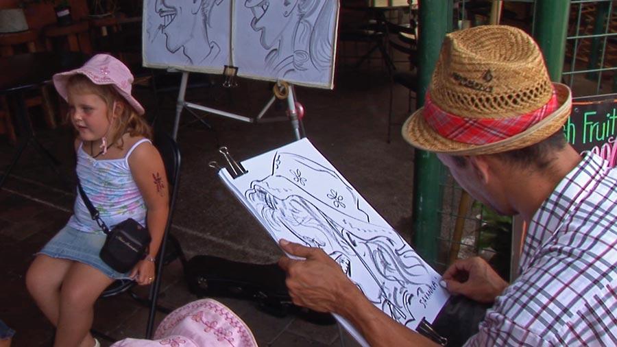 earn money travelling around Australia artist